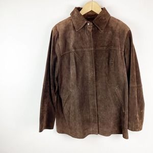 A.M.I. Rare Vintage Brown Leather Suede Jacket M